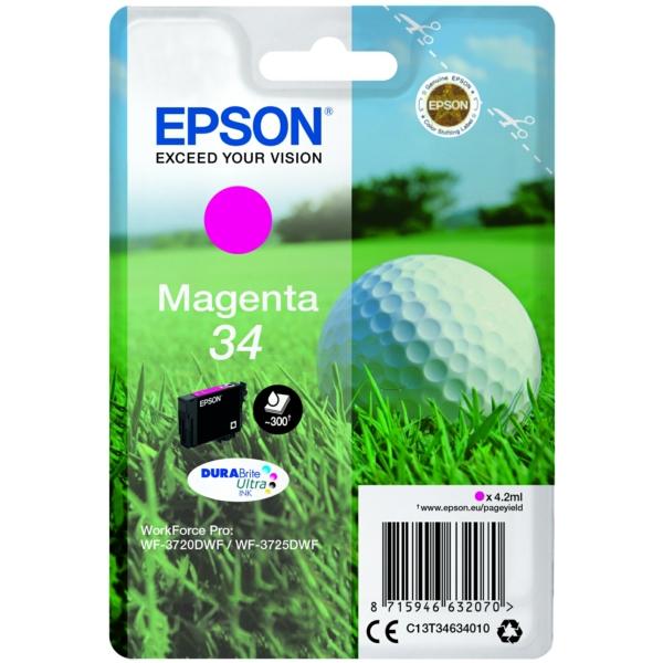 Epson C13T34634010 34 Magenta Ink 4ml