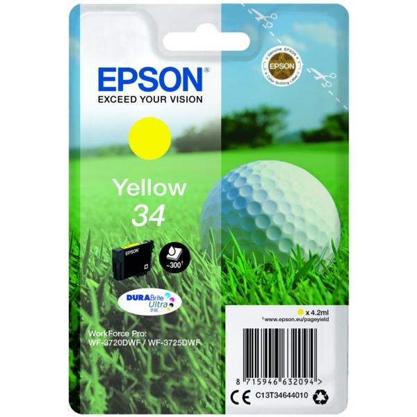 Epson C13T34644010 34 Yellow Ink 4ml