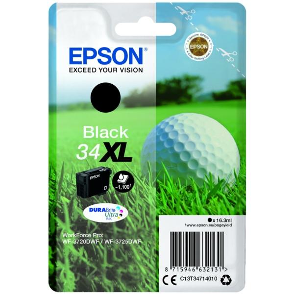 Epson C13T34714010 34XL Black Ink 16ml