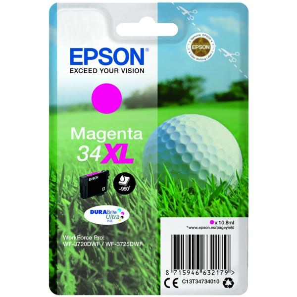 Epson C13T34734010 34XL Magenta Ink 11ml