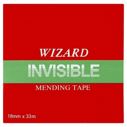Invisible Tape ValueX Wizard Clear Invisable Tape 19mm X 33m (Pack 8)