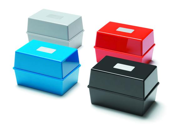 Value Value Deflecto Card Index Box 5x3 Black CP010YTBLK