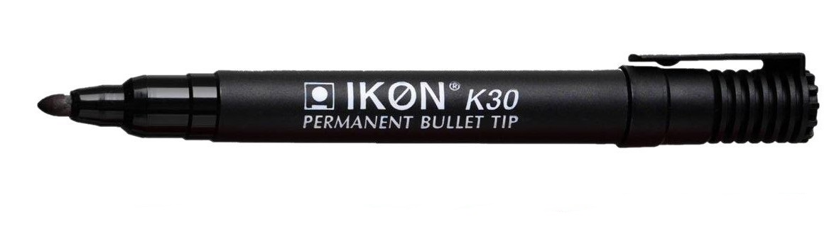 Value Permanent Marker Bullet Tip Black (PK10)