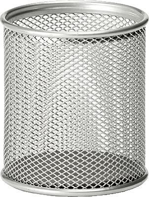 Osco Mesh Pen Pot (Silver) Single