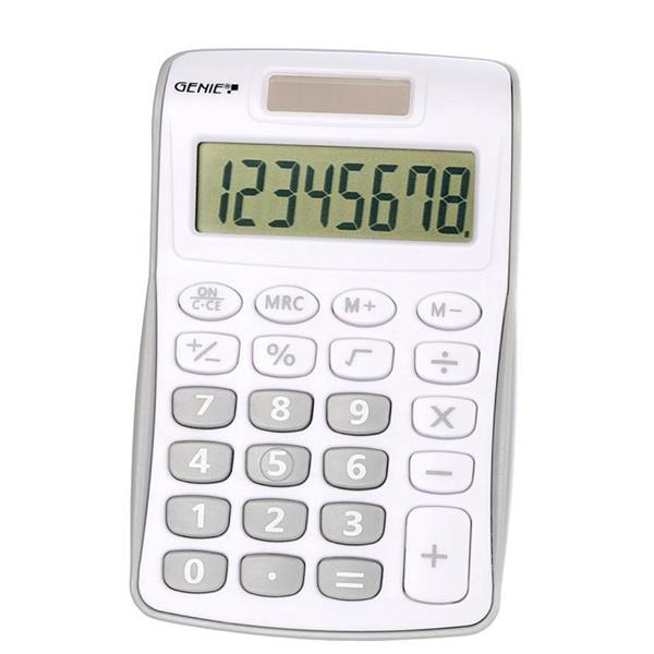 Handheld Calculator Genie 120B Pocket Calculator 8 Digit Silver
