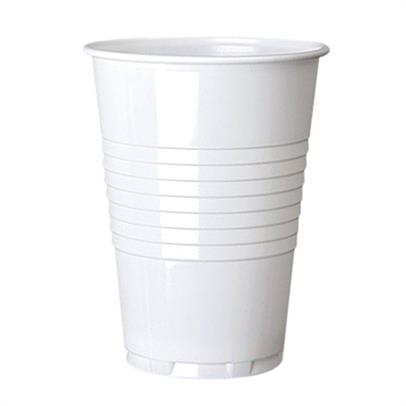 Disposable Cups & Accessories ValueX 7oz Plastic White Vending Cups (Pack 100)