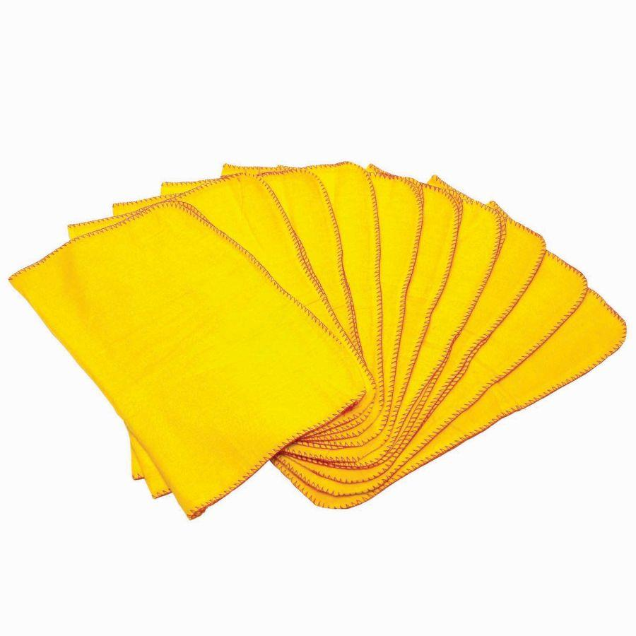 Cloths / Dusters / Scourers / Sponges ValueX Yellow Dusters (Pack 10)