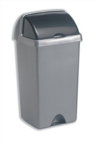 Rubbish Bins ValueX Metallic Bin Base and Lid 448 Litre