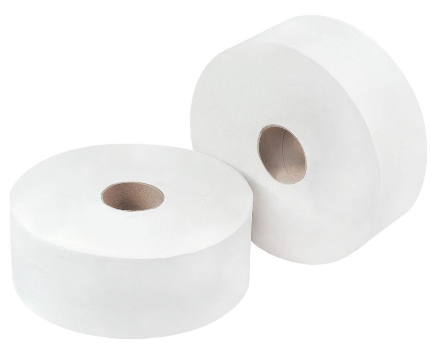 Toilet Tissue & Dispensers OMG Jumbo Toilet Roll 2 Ply 300m White (Pack 6) 1105119