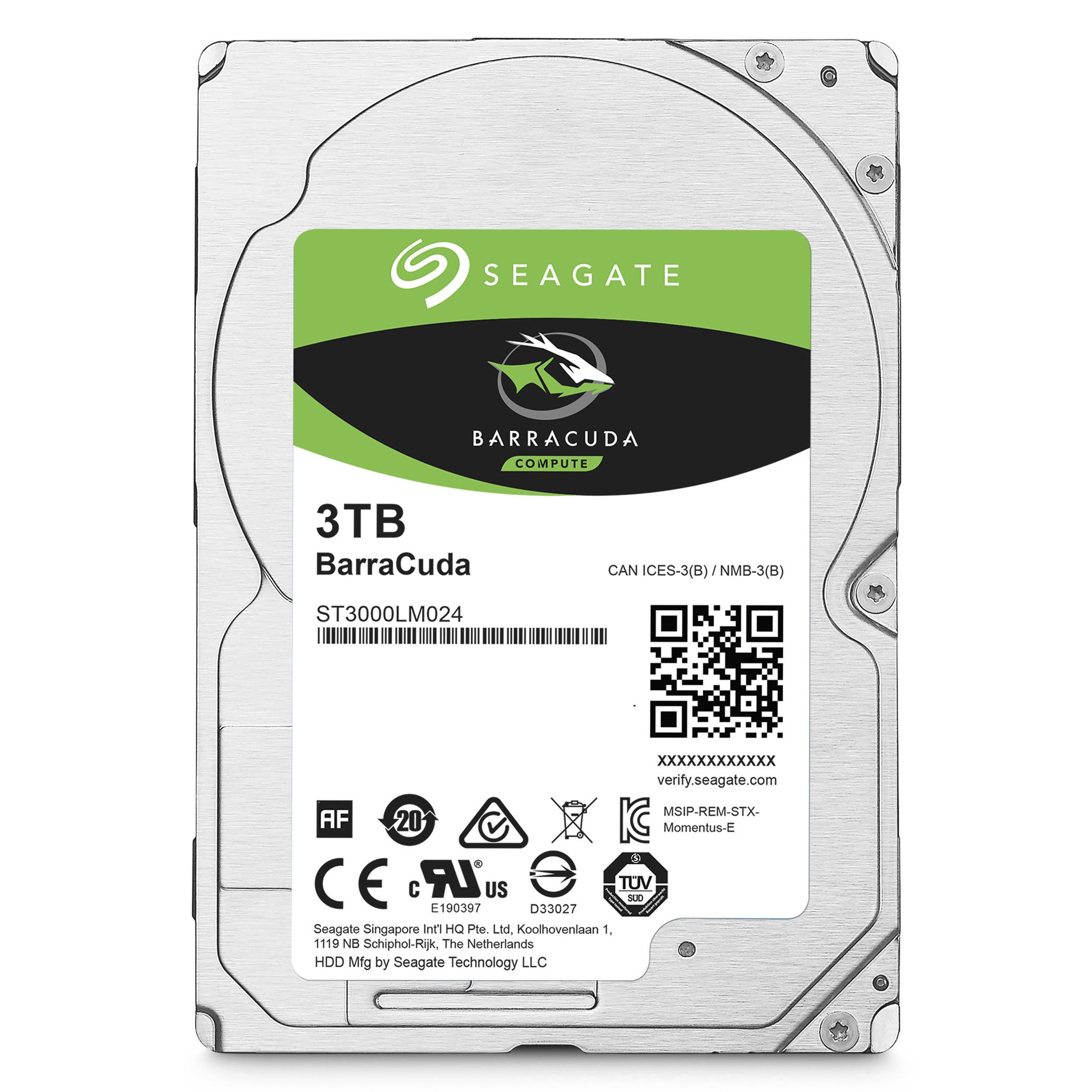 Seagate 3TB Internal BarraCuda SATA 2.5 Hard Drive