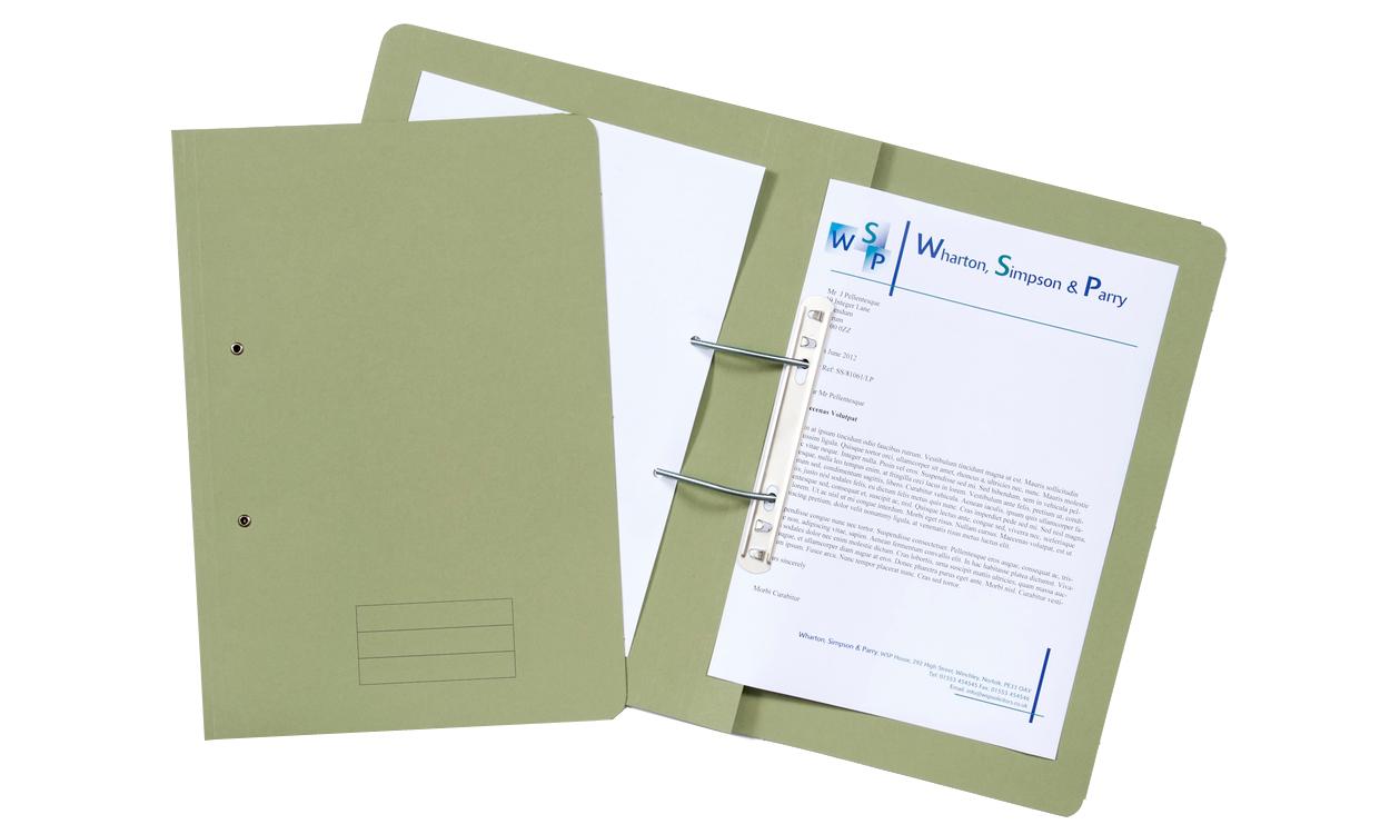 Value Transfer File Foolscap Green TFM-GRNZ - (PK25)