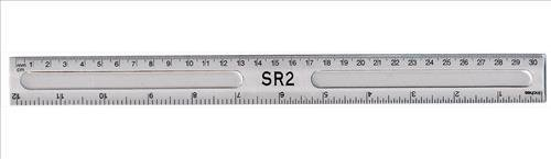 Value Ruler Clear 30cm PK20