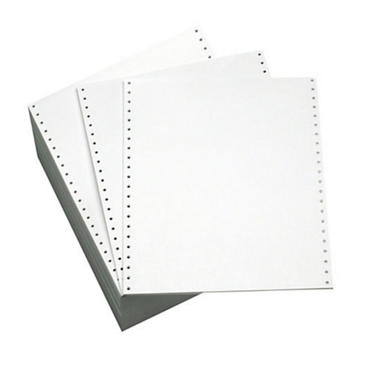 Listing Paper ValueX Listing Paper 11 x 241 70gsm Plain Perforated (Pack 2000)