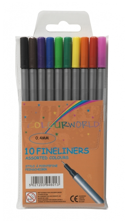 Value Fineliners Assorted Colours PK10
