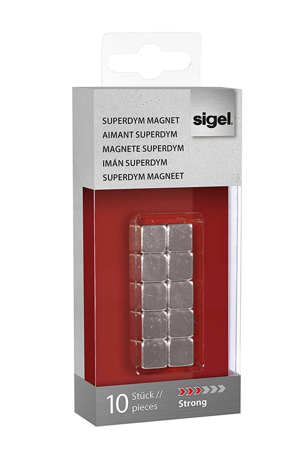 Magnets Sigel Magnets SuperDym C5 Strong Cube 10x10x10mm Silver PK10