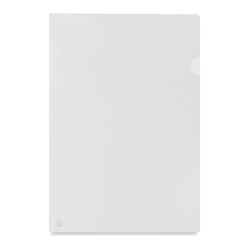 Cut Flush / Back Folders ValueX Cut Flush Folder Clear A4 Orange Peel Medium Weight (Pack 100)
