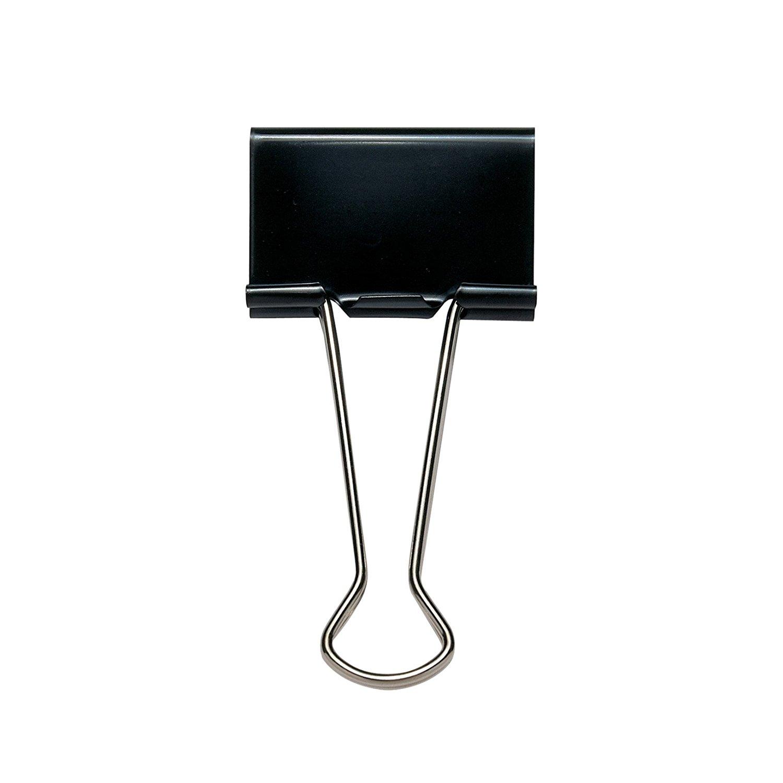 Value foldback Clip Black 41mm PK10