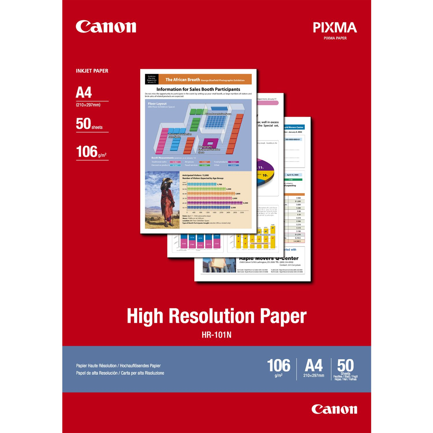 Canon 1033A002 HR101 High Resolution Paper A4 50 Sheets