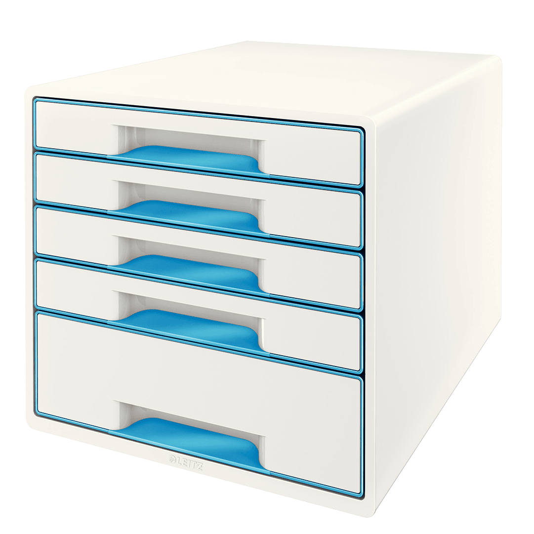 Leitz WOW Cube 5 drawer BL