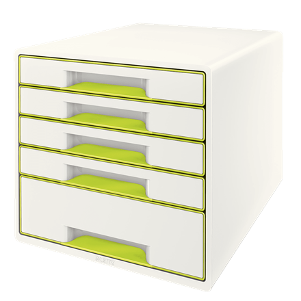 Leitz WOW Cube 5 drawer GN