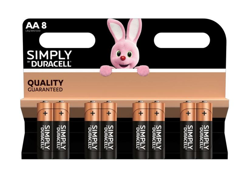 AA Duracell AA SIMPLY Batteries PK8