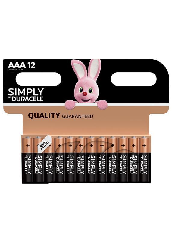 AAA Duracell AAA SIMPLY Batteries PK12