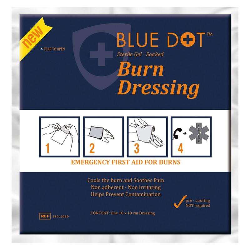 Blue Dot Burn Dressing 10x10cm Pk10