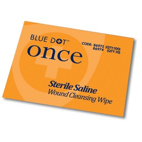 Equipment Blue Dot Sterile Saline Wipes PK100