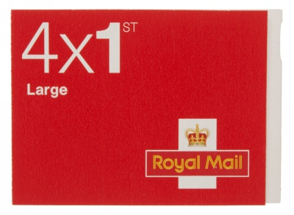 Royal Mail First Class Large Letter Stamps [25 x Book of 4] | LDR