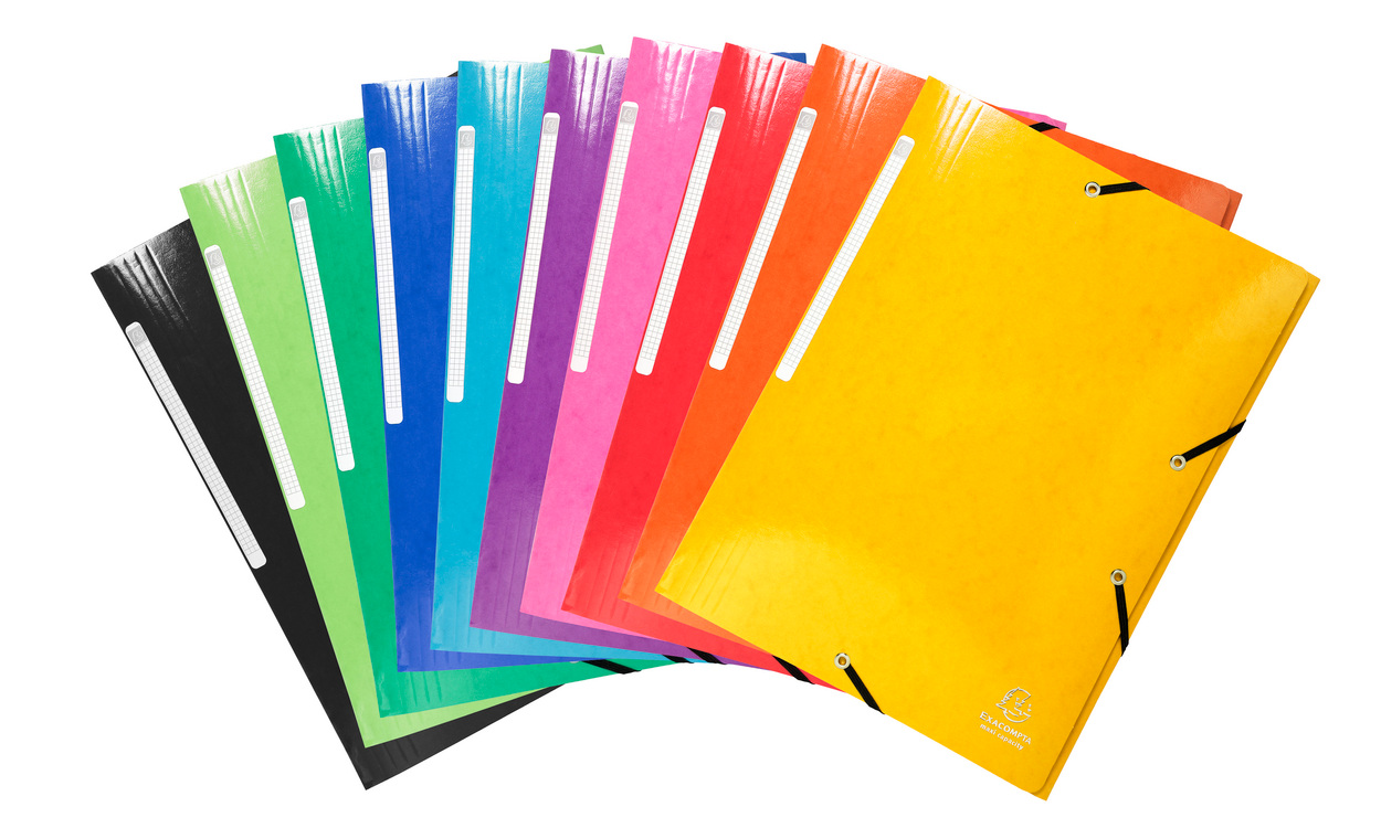 Iderama Elasticated 3Flap Folders Asst Pk25