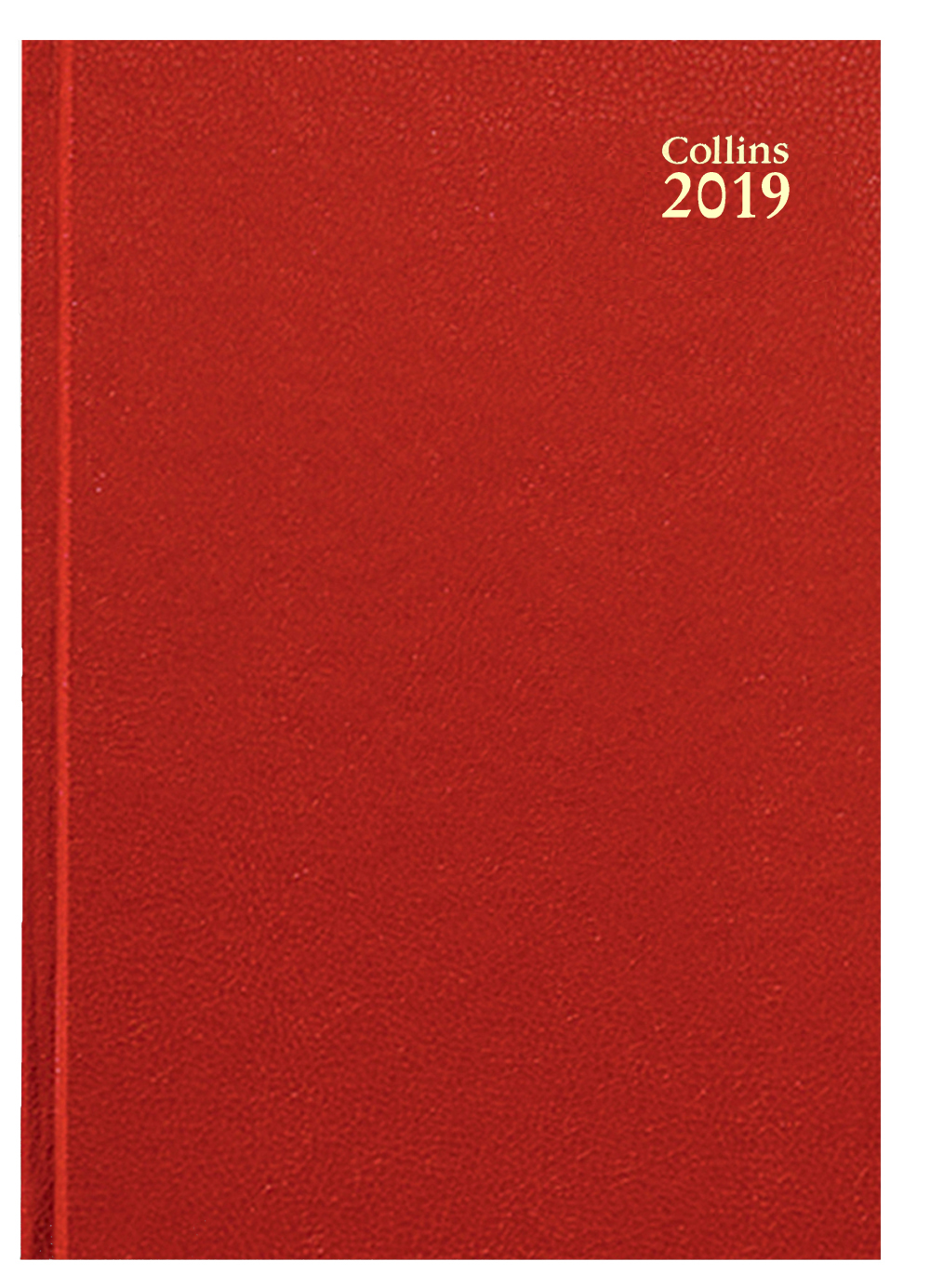 Collins A5 Desk Diary Week to View 2019 Red