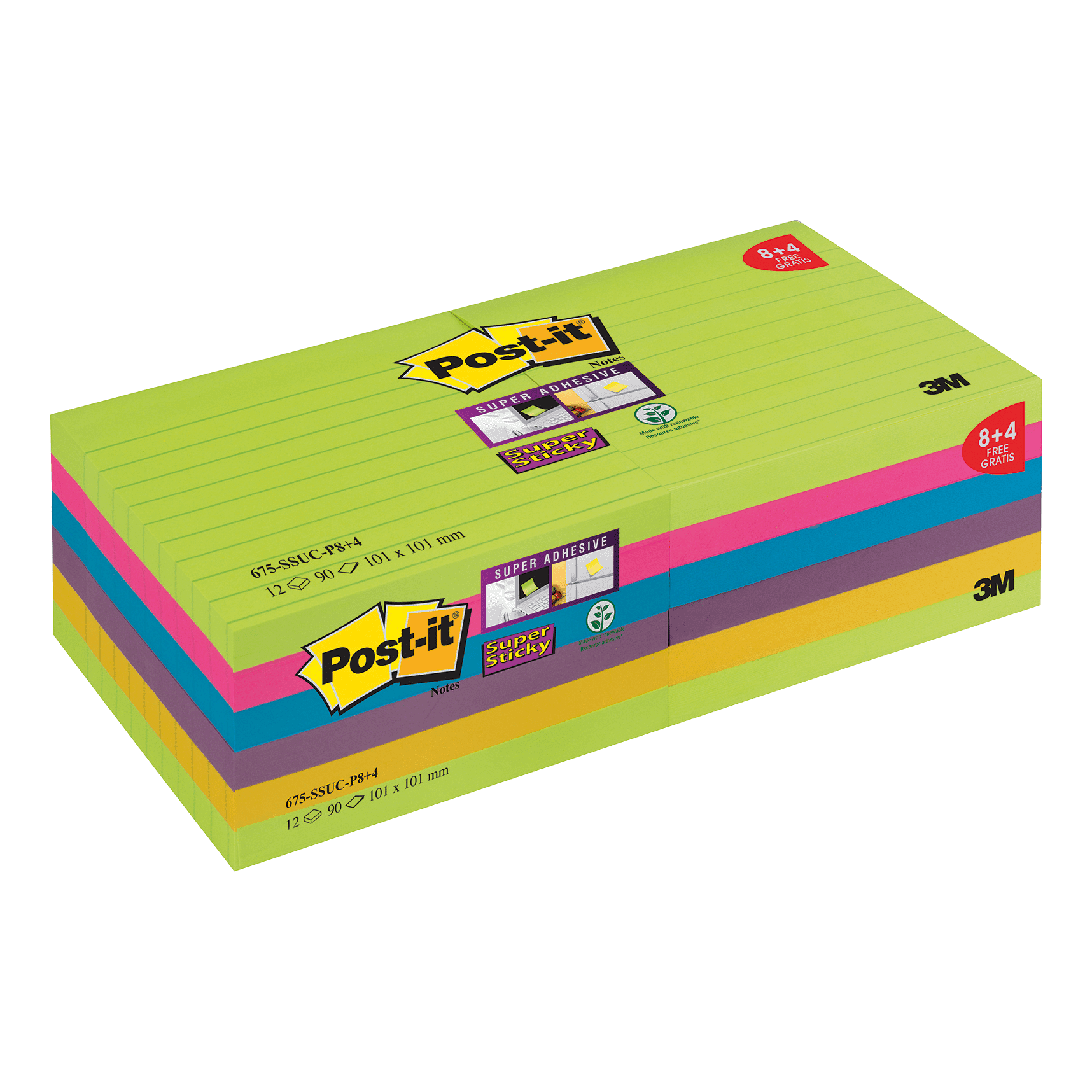 Post It SS Notes 101x101 Promo PK12
