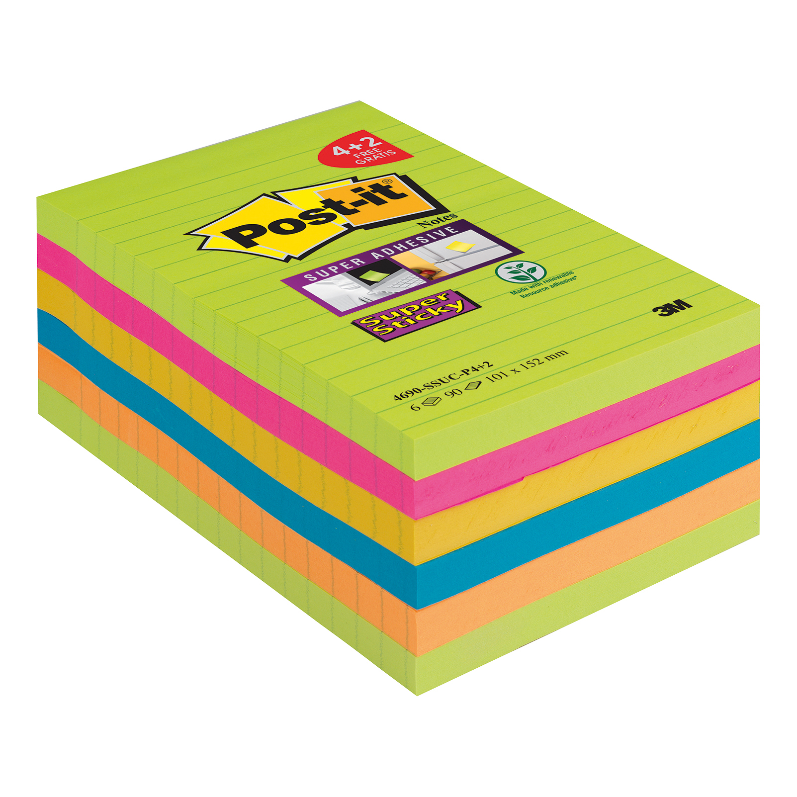 Post It SS Notes 101x152 Promo PK6