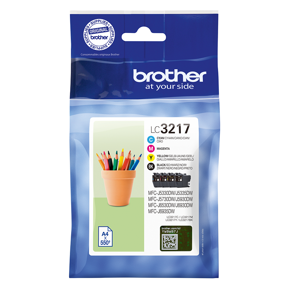 Brother LC3217VAL Black Colour Ink 15ml 3x9ml Multipack