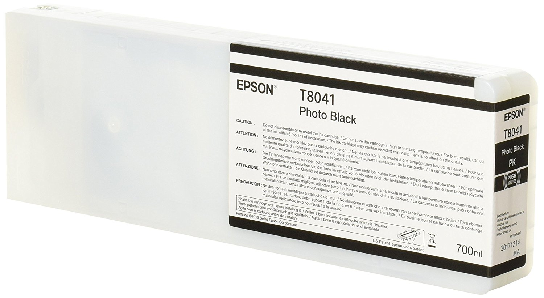 Printheads Epson C13T804100 T8041 Photo Black Ink 700ml