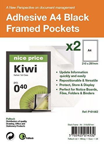 A4 adhesive Display Frm Mag Pk2 Bk