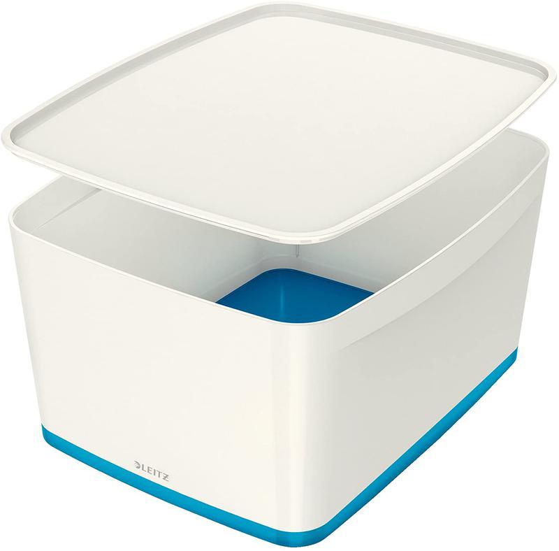 Leitz MyBox Large with Lid WOW White Blue