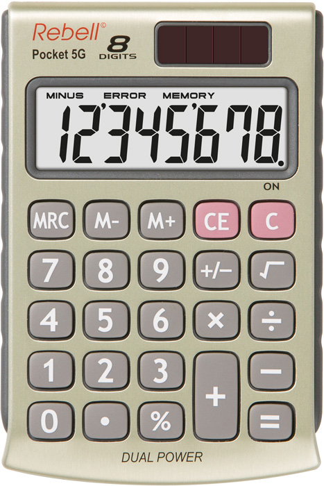 Handheld Calculator Rebell RE-POCKET 5G Pocket Calculator 8 Digit