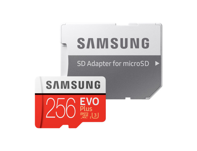 Internal Computer Expansion Samsung Flash Card 256GB Evo Plus MicroSD