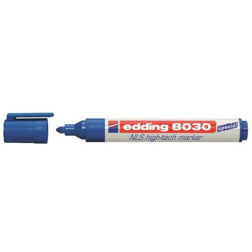 Permanent Markers Edding 8030 NLS Permanent Marker Bullet Tip 1.5-3mm Blue (Pack 10)