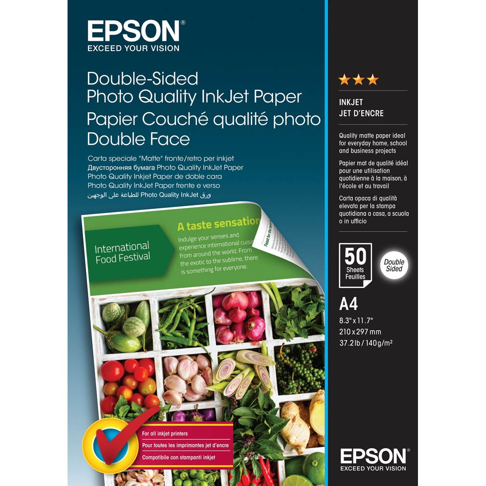 Photo Paper Epson C13S400059 Double Sided Photo Paper A4 50 Sheets
