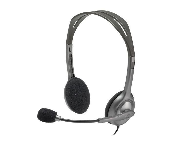 Headsets Logitech H111 Binaural Headband Grey