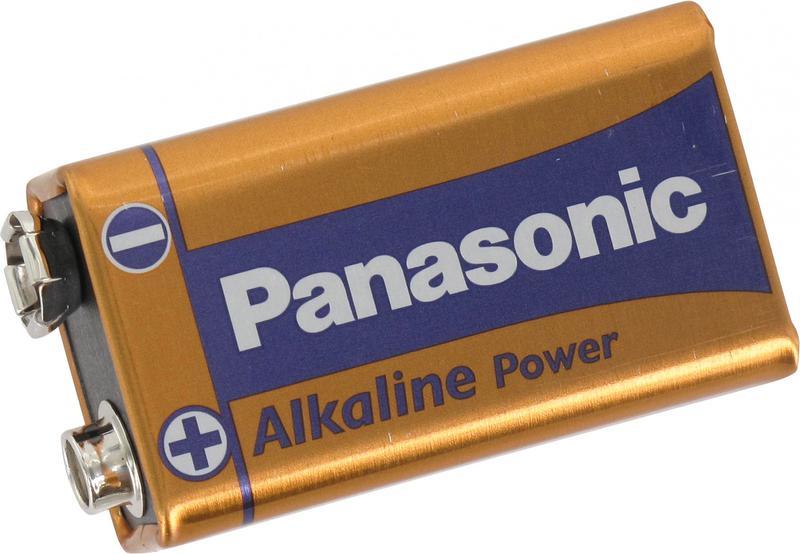 9V Panasonic Bronze Power 9V Alkaline Batteries (Pack 1)