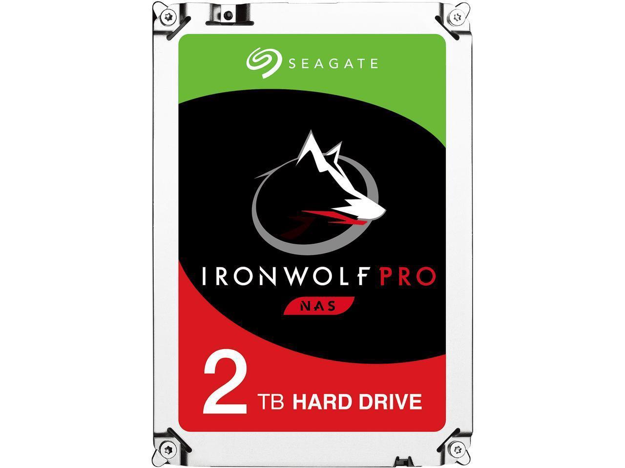 Seagate 2TB Internal IronWolf Pro SATA 3.5 Hard Drive