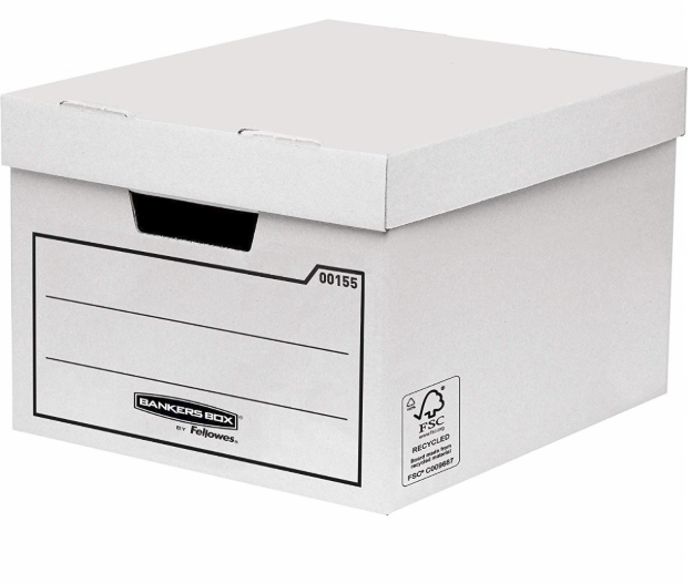 Storage Boxes Fellowes General Storage and Archive Box Board White (Pack 10)