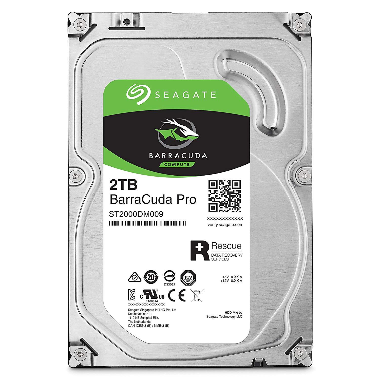 Seagate 2TB Internal BarraCuda Pro SATA 3.5 Hard Drive