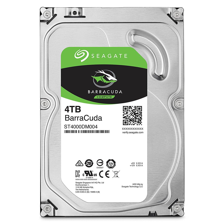 Seagate 4TB Internal BarraCuda SATA 3.5 Hard Drive
