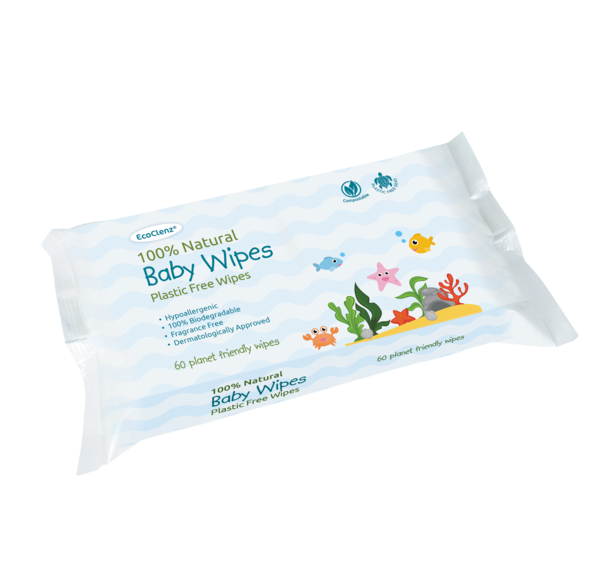EcoClenz 100% Natural Baby Wipes PK60