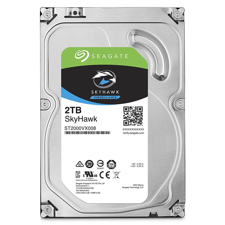 Seagate 2TB Internal SkyHawk SATA 3.5 HDD