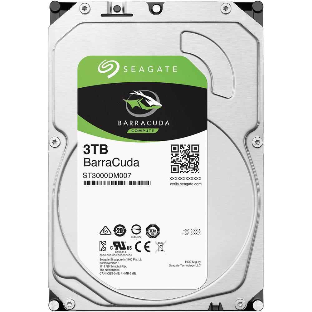 Seagate 3TB Internal BarraCuda SATA 3.5 HDD